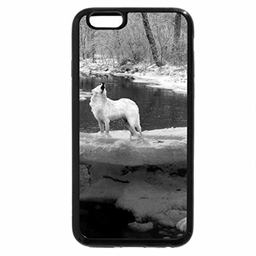 iPhone 6S Case, iPhone 6 Case (Black & White) - Bloody river
