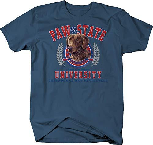 Paw State University Chesapeake Bay Retrievers Dog Puppy Family Tshirt - Large Denim ()