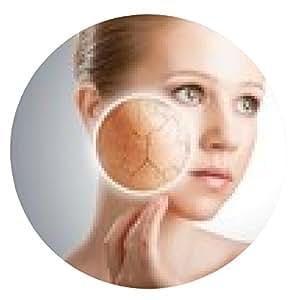 alfombrilla de ratón concepto de cuidado de la piel cosméticos. rostro de mujer joven con nieve artificial - ronda - 20cm