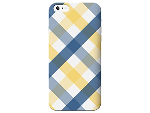 Blue And Yellow Plaid Pattern For Iphone 6 Case by iCandy Products Back Phone Cover