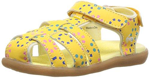 See Kai Run Girls' Paley Sport Sandal, Yellow, 6 M US Toddler
