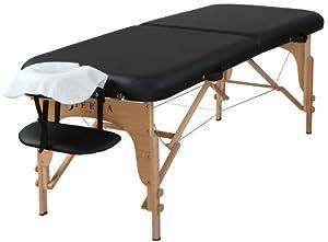 Sierra Comfort Preferred Portable Massage Table, Black