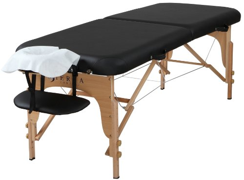 SierraComfort Preferred Portable Massage Table, Black