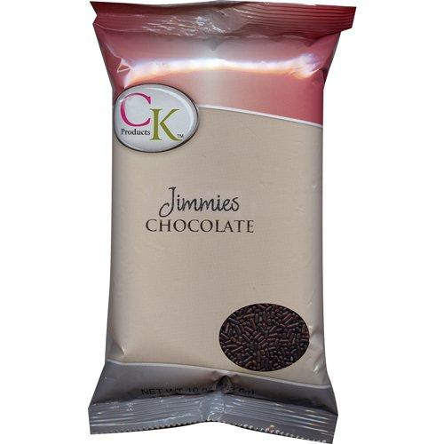 Chocolate Jimmies Sprinkles - CK Products Chocolate Jimmies, 16 oz bag