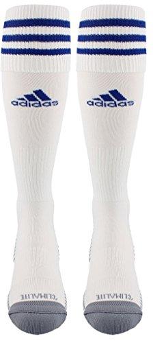 adidas Copa Zone Cushion III Soccer Socks, White/Cobalt, Size X-Small
