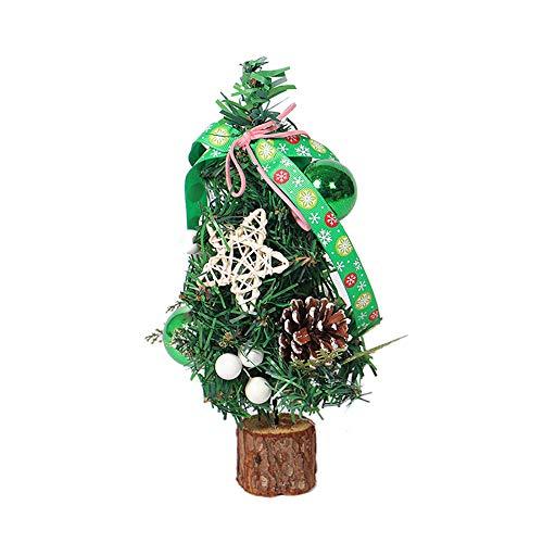 13'' Christmas Tabletop Decoration Mini Christmas Tree White Needle Pine Cones ()