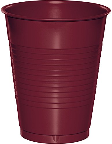Creative Converting 28312281 20 Count Touch of Color Plastic Cups, 16 oz, Burgundy]()
