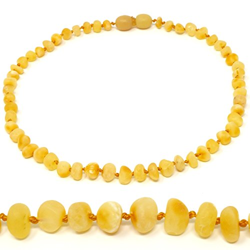 Amber Teething Necklace - TRULY Raw 100% Baltic Amber (12.5