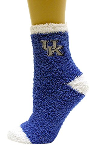 - NCAA Kentucky Wildcats Solid Fuzzy Socks, One Size, Blue