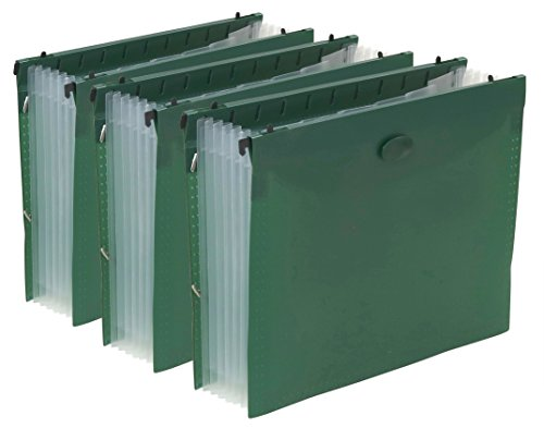 anging File Folder with 7 Divider Pocket - 3 Pack (Heavy Duty Filing Cabinets)