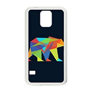 Samsung Galaxy S5 Cell Phone Case White Fractal geometric bear C1N3K