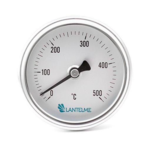 Wasserdicht / Rauchdicht 500 °C Grad Backofen / Ofen / Grill / Tandur / Smoker / Räucher Thermometer Analog und Bimetall . Durchmesser 63 mm und 15 cm lang