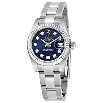 Amazon.com Rolex Lady Datejust Blue Diamond Dial Automatic