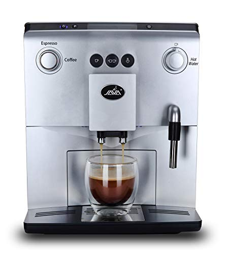 Auto-Coffee Machine with Cappuccino, Milk Frother, Latte crema System,Text Display, Programming Function and Daily capacity 150 cups,Pump pressure static, Silver, WSD18-060