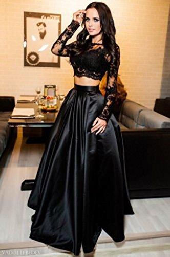 9806843251 De Vestidos Noche Verano Vestido Bodas Lilicat® Falda Negro Blusas Mujer  Formal Fiesta Larga Sin Encaje Elegante 2018 Conjunto ...