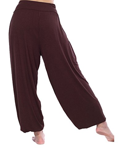 HOEREV Super Soft Modal Spandex Harem Yoga// Pilates Pants