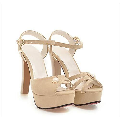 Heel Pump PU Shoes Women's Spring Black Basic Fall amp; Pink Beige Stiletto Beige Heels ZHZNVX Comfort Polyurethane TFA7Enzxz