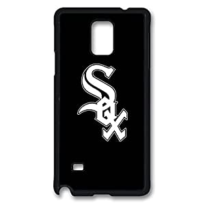 Galaxy Note 4 Case, Baseball Chicago White Sox Design Print Pattern Perfection Case [Anti-Slip Feature] [Perfect Slim Fit] Plastic Case Hard Black Covers for Samsung Galaxy Note 4