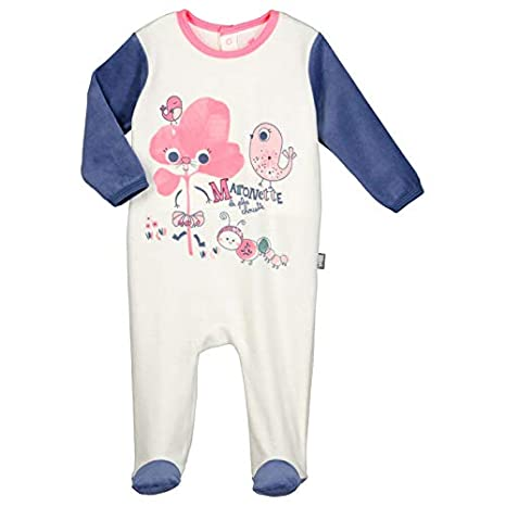 416f28fa55929 Pyjama bébé velours Maronette - Taille - 3 mois (62 cm)  Amazon.fr ...