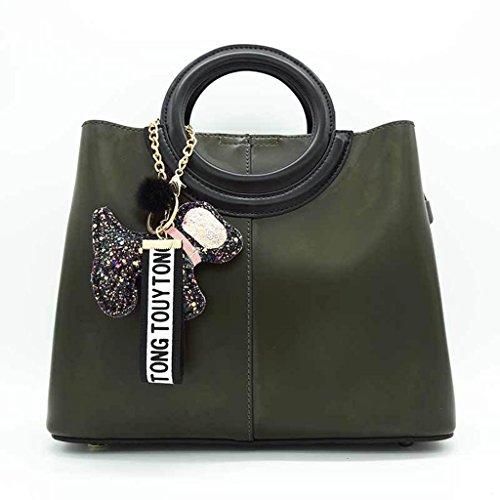 CRR Lady Sacs PU Sac à Main Anneau Sac Pendentif Accessoires Épaule Messenger Bag (Couleur : #3) #5