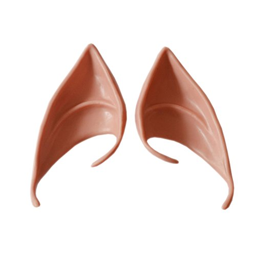 Dark Elf Cosplay Costume (Halloween Cosplay Party Elf Ears Pack of One Pair (Dark complexion))