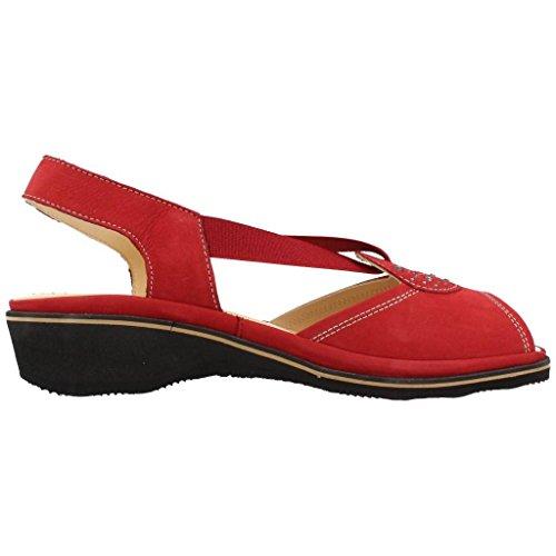 Marca para Zapatos PLAJU Mujer De Cordones de Cordones Rojo PLAJU Rojo Color Zapatos Modelo Rojo Lisa Mujer para UwYqSxE