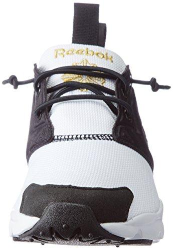 Reebok Womens Furylite Tech, Nero / Bianco / Pprwhite / Oro Nero / Bianco / Pprwhite / Oro