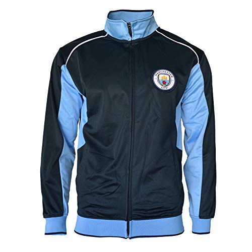 Manchester City Jacket Track Soccer Adult Sizes Soccer Football Official Merchandise (M, Navy) ()