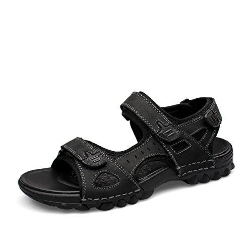 Black Con Deportivo Hombre Playa Athletic Gran Soporte Fácil Para El Calzado Para Del Velcro LXXA Sandalia Sandalias Fijar El Verano La Arco Y1Rzqx