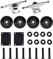 FREEDARE Skateboard Trucks and Wheels Set, 52mm/54mm Skateboard Wheels and Bearings Set, Skateboard Trucks 5&q