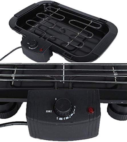 Portable Électrique sans Fumée Portable Barbecue Intérieur Barbecue Grill Rempli d'eau Goutte À Goutte Plateau,2000 W,Noir