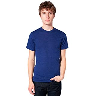 American Apparel  Unisex Tri-Blend Short Sleeve Track Shirt, Tri-Indigo, Large