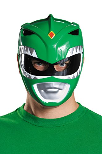 Disguise Costumes Green Ranger Vacuform Mask, Adult -