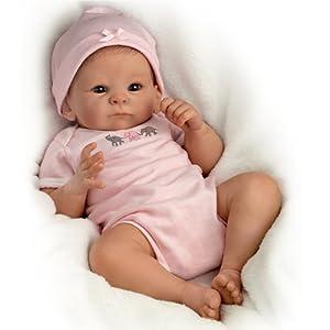 Tasha Edenholm Lifelike Poseable Little Peanut Baby Doll by The Bradford Exchange