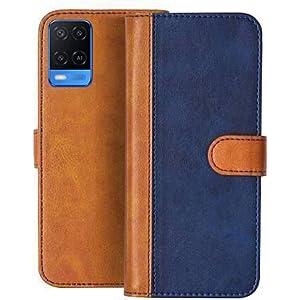 CASEY Mobile Flip Cover, Compatible Device Oppo A54 (Blue, Brown, Multi-Coloured)