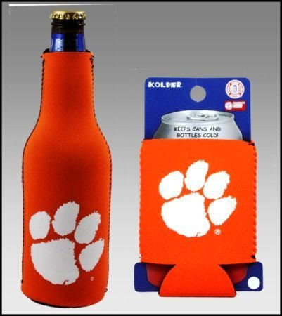 SET OF 2 CLEMSON TIGERS CAN & BOTTLE KOOZIE COOLER Review