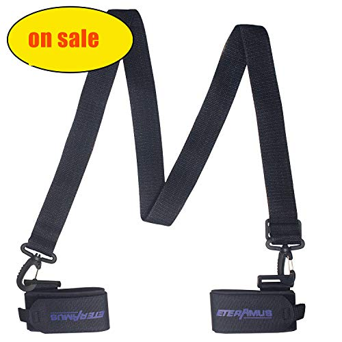 Eteramus Upgrade Ski Carrier Straps, Pole Shoulder Strap, Holders, Ties, Adjustable Thick and Strong Handle Carrying Boot Sling, Detachable Hook and Loop Avoid Tangle