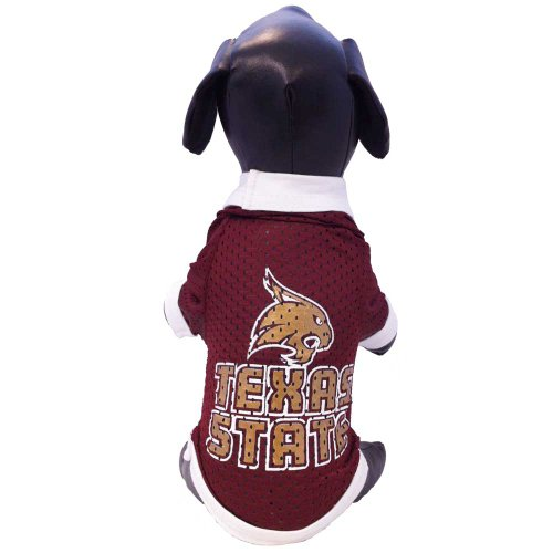 NCAA Texas State Bobcats Athletic Mesh Dog Jersey, Small