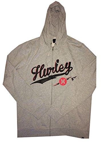 Hurley Men's Full Zip Brayden Hoodie Grey (Small) MFT0005690 (Bolted)