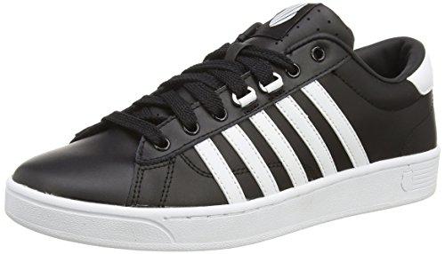 K-Swiss Hoke - zapatilla deportiva de piel hombre negro - Schwarz (Black/White 002)