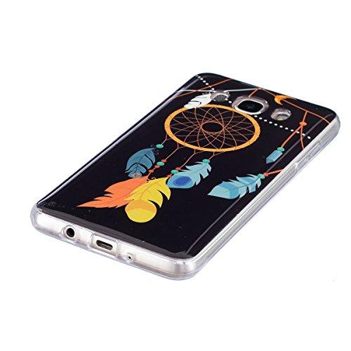 Noctilucent Funda para Samsung Galaxy J5(2016), Ukayfe Moda Alta Calidad suave de TPU Silicona Suave Funda Carcasa Caso Parachoques Diseño pintado Patrón para Samsung Galaxy J5(2016),Funda Case Lujo P Noctilucent-Campanas de viento