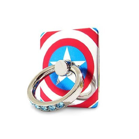 Smart Grip Officially Licensed Accessory by MARVEL 360 degree Rotation 3D Ring Universal Masstige Finger Ring Grip Stand Holder for any Smart Devices (Captain America (Captains Pedestal)