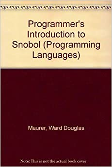 Book Programmer's Introduction to Snobol (Programming Languages)