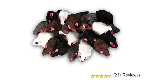 Ratón de pelo real de EBI, juguete ideal para gatos, ratones de piel en set, cada uno de 5 cm.: Amazon.es: Productos para mascotas
