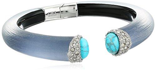 Alexis Bittar Cuff Bracelet - Alexis Bittar Encrusted Double Turquoise Small Brake Hinge Ocean Cuff Bracelet