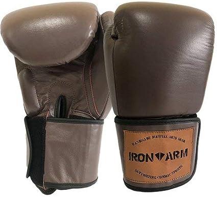 Luva de Boxe Premium Pro Marrom Fosco Iron Arm (Marrom Fosco, 14 oz)