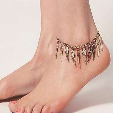 Miss Exotic Wind Retro Angel Wings Anklets