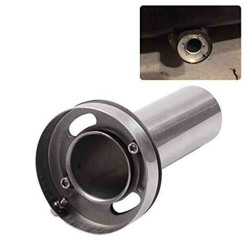 Y/&Jack Universal Inlet Blue Burnt Exhaust Tip Outet Titanium Burnt Tip Stainless Steel Exhaust Straight Muffler