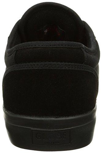 Black Black de cuero Red unisex Motley GBMOTLEY Negro 20090 Globe Zapatillas CfFqgP