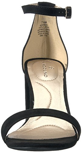 Bandolino Women's Armory Heeled Sandal, Pink Multi, US Black Faux Suede
